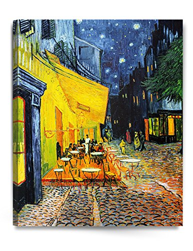 Hand Signed Painting (DecorArts - Cafe Terrace At Night, by Vincent Van Gogh. The Classic Arts Reproduction. Art Giclee Print On Canvas, Stretched Canvas Gallery Wrapped. 24x30