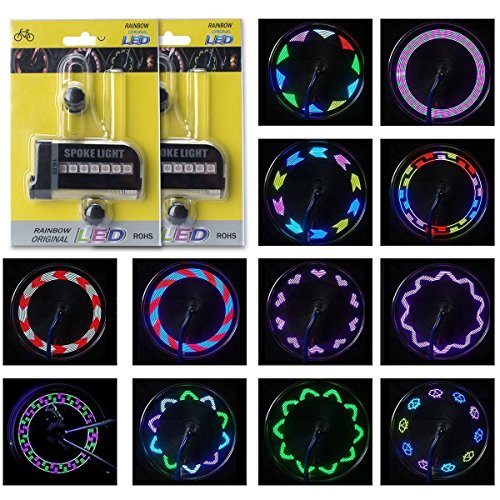 Putmax with Bike Wheel Lights - Bike Lights with Motion and Light Sensor-Safety Tire Light for Kids Adult Riding at Night - 2ct Bike Spoke Lights by Putmax (Image #6)