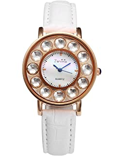 Amazon moving airplane womens causal watch fq001 vintage top plaza rotating airplane world map watch unisex retro bronze case white pu leather band quartz gumiabroncs Images