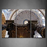 First Wall Art - St. Peter'S Basilica Wall Art Painting Pictures Print On Canvas Religion The Picture For Home Modern Decoration