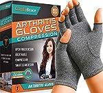 Comfy Brace Arthritis Hand Compression Gloves – Comfy Fit, Fingerless Design,