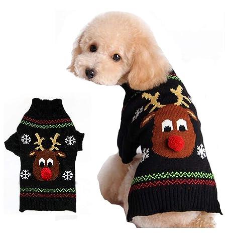 Suéter para Perros Ropa para Perros Ropa para Mascotas Sudadera de Invierno Cachorro Disfraz Lindo Ciervo