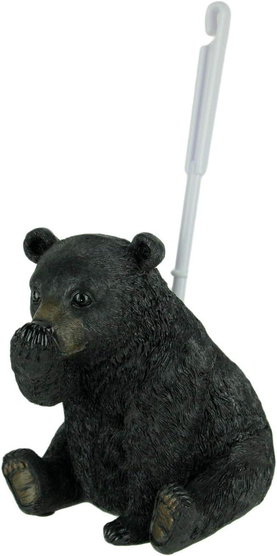 DeLeon Collections Funny Stinky Black Bear Toilet Bowl Cleaner Brush & Holder Set