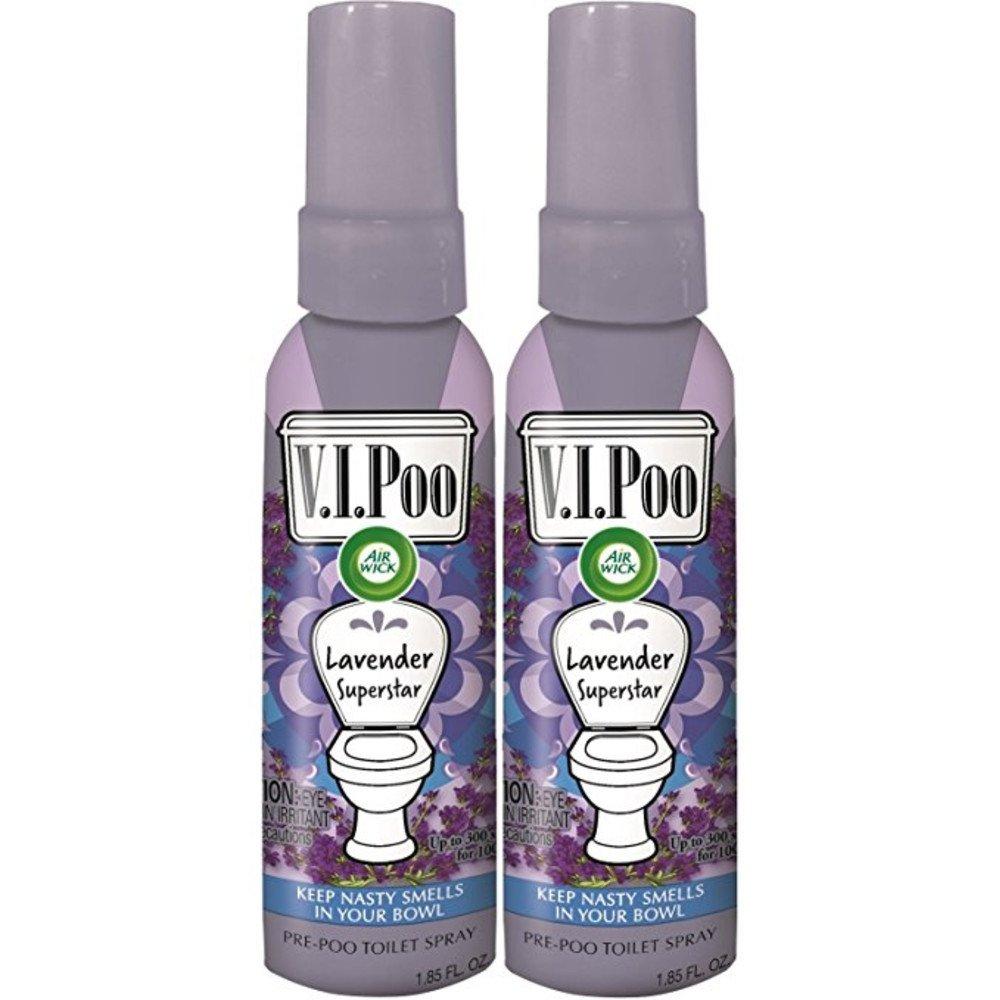 Air Wick V.I.Poo Toilet Perfume Spray, Lavender Superstar, 2ct (2X1.85oz)