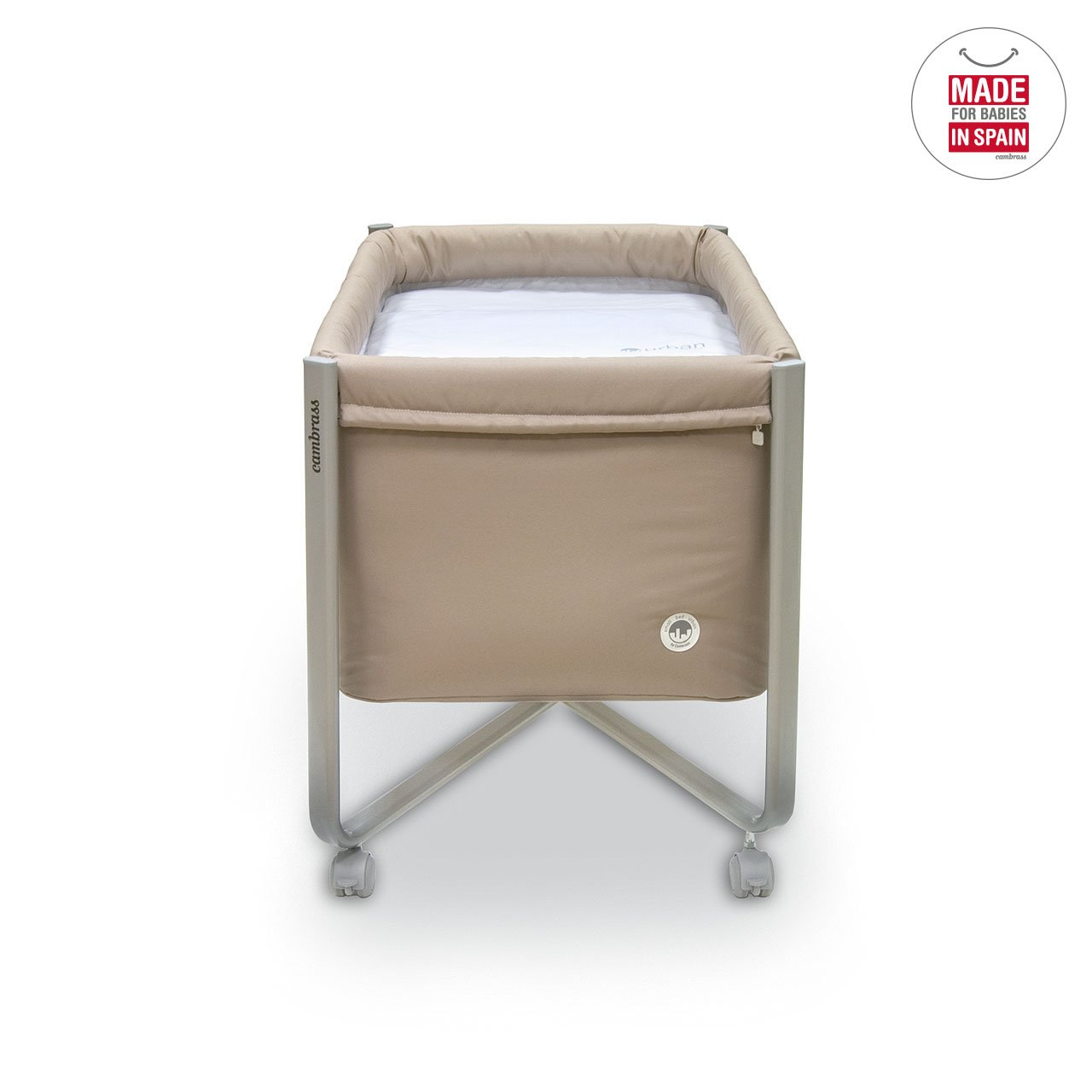 Amazon.com : Cambrass 56.5 x 92 x 64.5 cm Bed Urban Liso E (Small, Beige/ Grey) : Baby