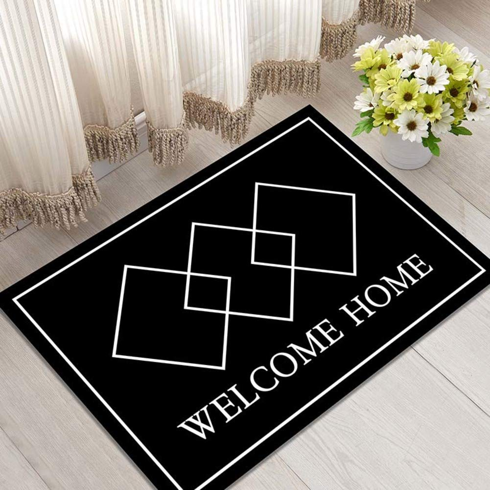 A 40x60cm(15.7x23.6inch) Door mat,Geometric Pattern Entrance Door mats Carpet Entrance mat Non Slip Door mat Low Profile Door mats-C 80x120cm(31x47inch)