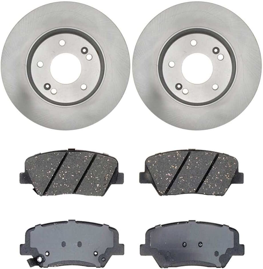 Auto Shack RSCD41554415541432 Front Set of 2 Premium Rotors and 4 Ceramic Pads