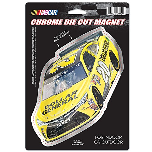 nascar-matt-kenseth-dollar-general-car-die-cut-logo-chrome-magnet-625-x-9-inch