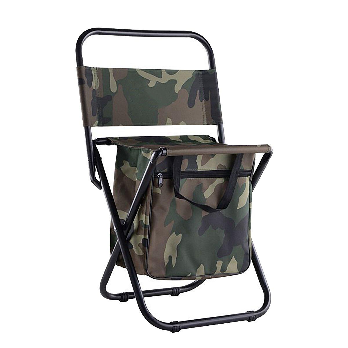 折りたたみキャンプ椅子withストレージポケットハイキング、キャンプ、釣り、ビーチ、屋外の B078MRD8YF  アーミーグリーン