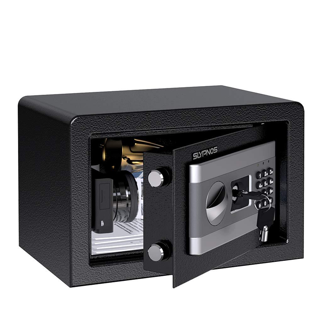 Tresor Safe Slypnos 35x25x25 cm mit 3 Doppelstahlbolzen, elektronischem Zahlenschloss, 2 Notfall Vorrang Tasten, 4 Batterien, fü r Schmuck Bargeld Dokument