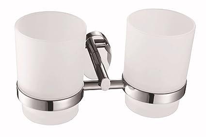 THWS Accesorios de baño de cobre simple color cromo wc colgante dispensador de jabón Set Paper