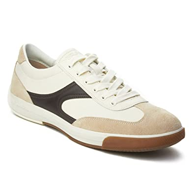 Prada Sport Mens Leather Suede LowTop Sneaker Shoes White  B07B6FGJW5