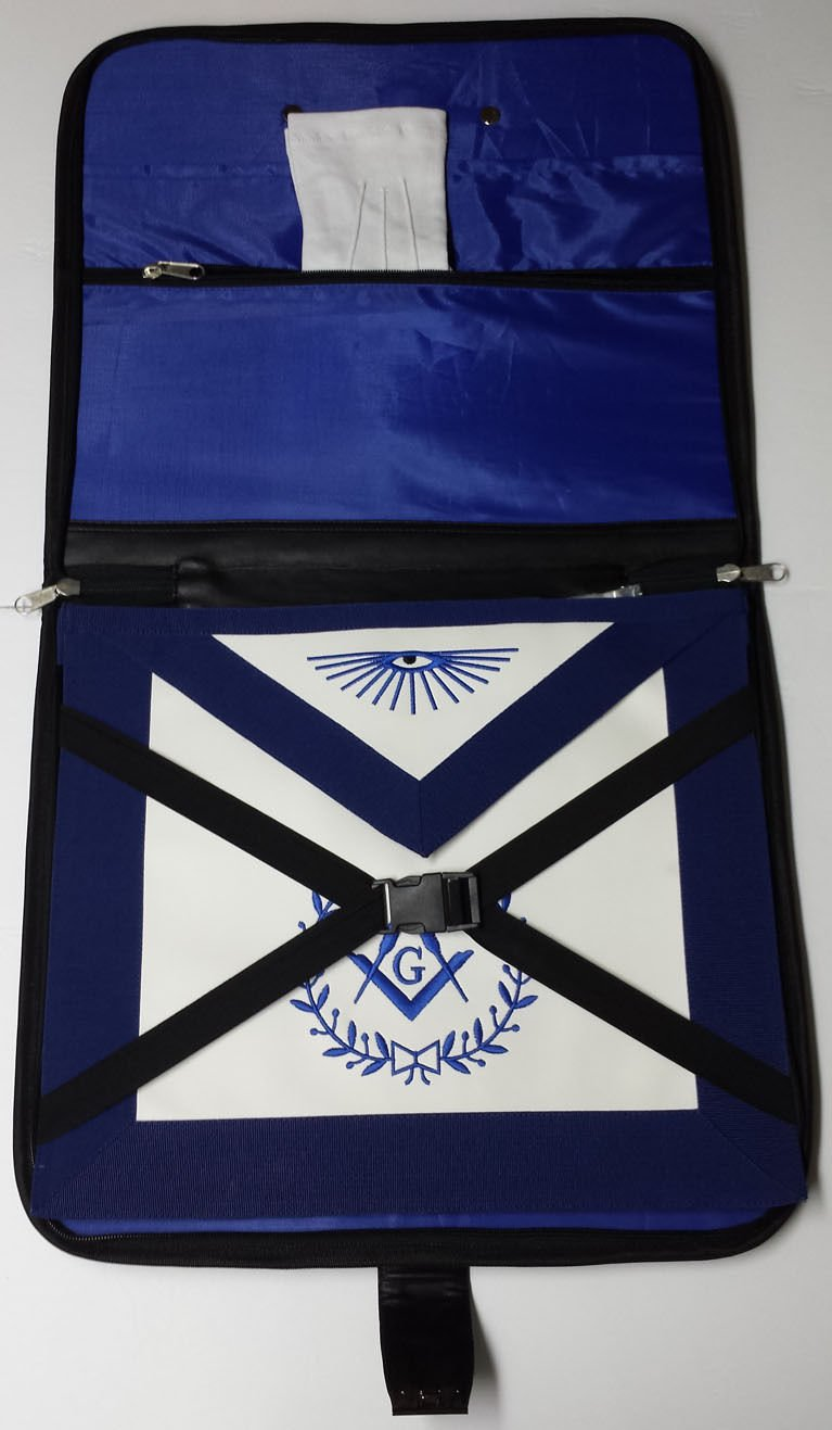 Masonic Regalia Black File Case For WM/MM Apron with Hard Handle & G Logo by Zest4Canada