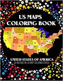 Us Map Coloring Book 50 Interacive Us Map Color States With Pins J K Stanley 9781545173633 Amazon Com Books