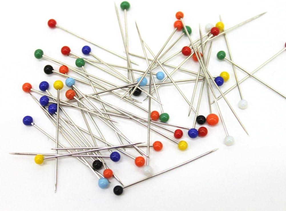 ultnice 250pcs Glas Pin Ball Head Pins Multicolor N/ähen Pins f/ür DIY N/ähen Handarbeiten 4/mm Kopf + 34/mm Pin