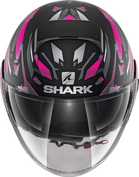 nero//fucsia casco da moto KANHJI MAT KSV Shark Nano XS