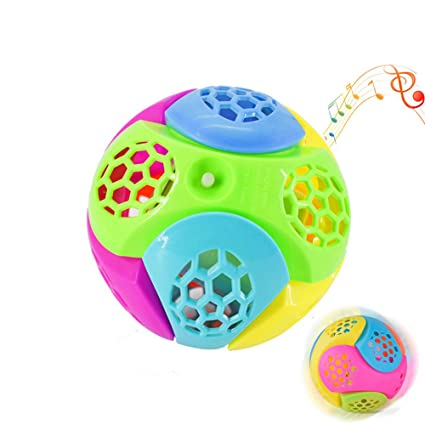 Colorful Music Flashing Ball Bouncing Vibrating Jumping Kids Boys Girls Toy Gift