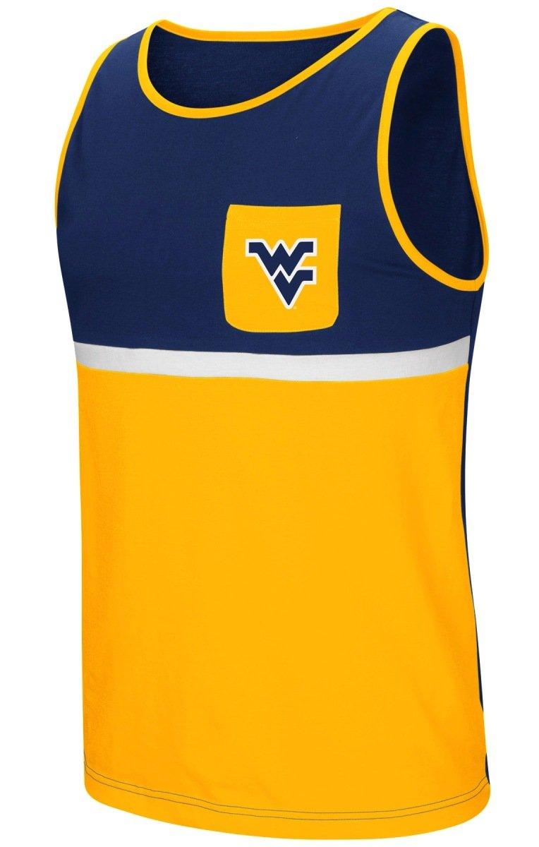 "West Virginia Mountaineers NCAA /""Steal Home/"" Men/'s Dual Blend 3//4 Sleeve T-Shirt"