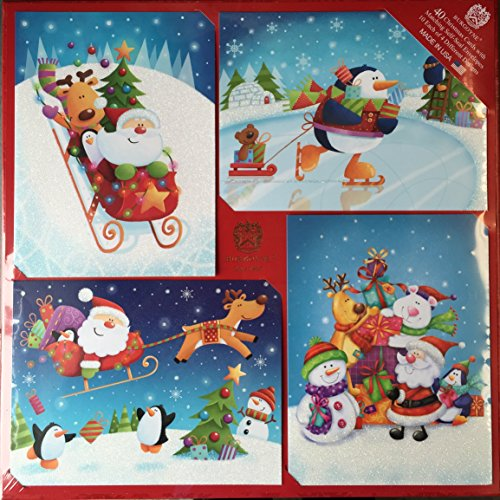 Burgoyne 40 Christmas Cards with Matching Self-Seal Envel...