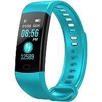 Y5 Fitness Tracker avec Moniteur de Sommeil Moniteur Couleur écran Bluetooth Bluetooth Smart Watch activité Tracker Compteur de Pas étanche et Compteur de Calories pour Android iOS (Vert)