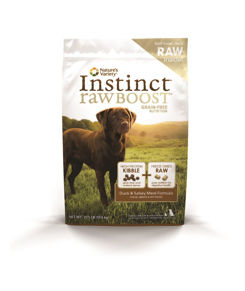 Instinct Raw Boost Grain Free Duck & Turkey Meal Formula Natural Dry Dog Food by Nature's Variety, 23.5 lb. Bag