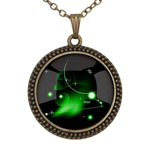 Lightrain Vintage Bronze Pendant Necklace Vintage Bronze Chain Statement Necklace Handmade Jewelry Gifts