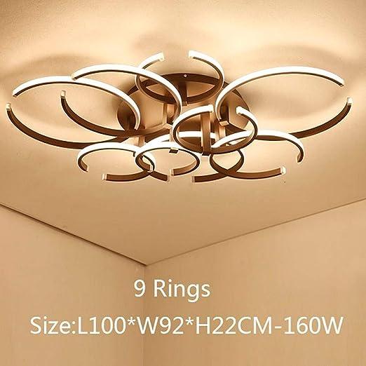 Joey 2018 Marrón/blanco Luces de techo LED modernas para sala de ...
