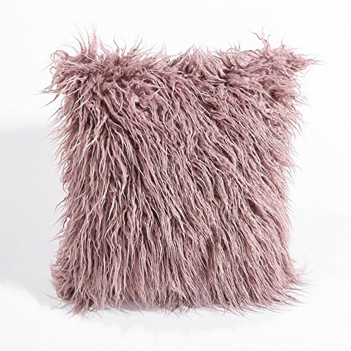 Reversible Underwire (Menglihua Home Decorative Super Soft Plush Faux Fur Suede Back Throw Pillow Cover Cushion Case DarkPurple One Size)