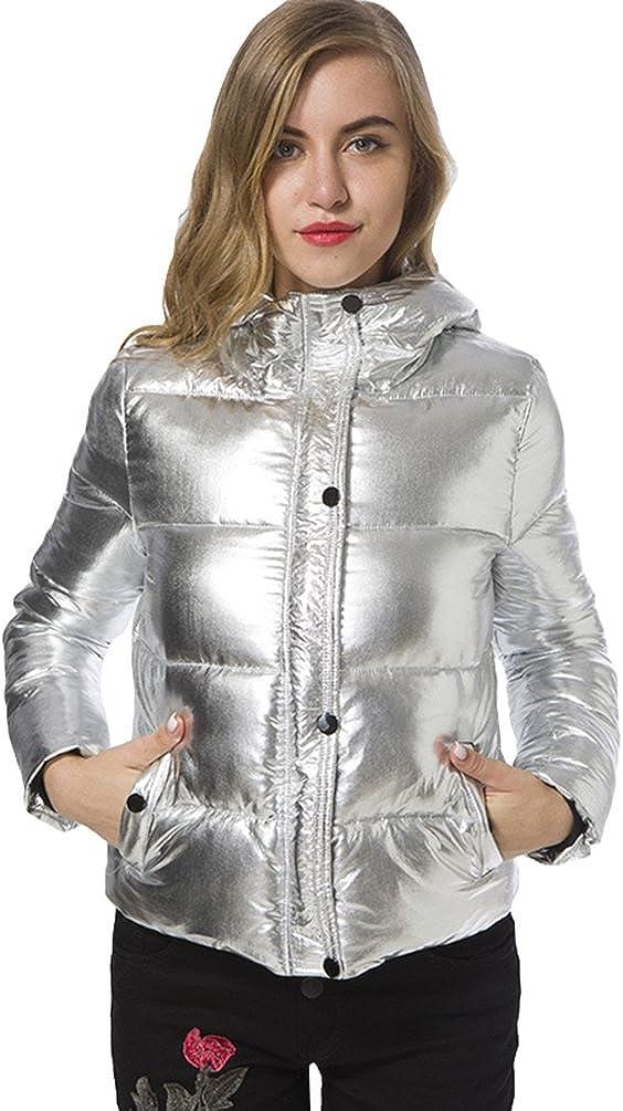CHENGYANG Donna Piumino di Inverno Ultra Leggero Giacca Manica Lunga Giacche con Cappuccio