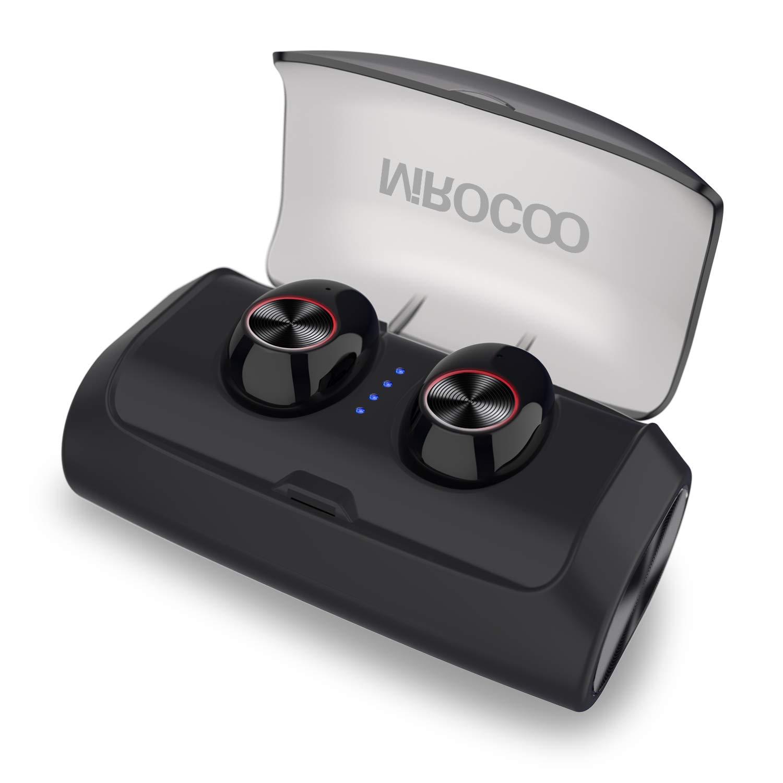 MIROCOO Auricolari Bluetooth 5.0, Cuffie Bluetooth Senza Fili Stereo, TWS Auricolare IPX6 Leggeri Sportivi, Earbuds Wireless Invisibile con 3000mAh Scatola