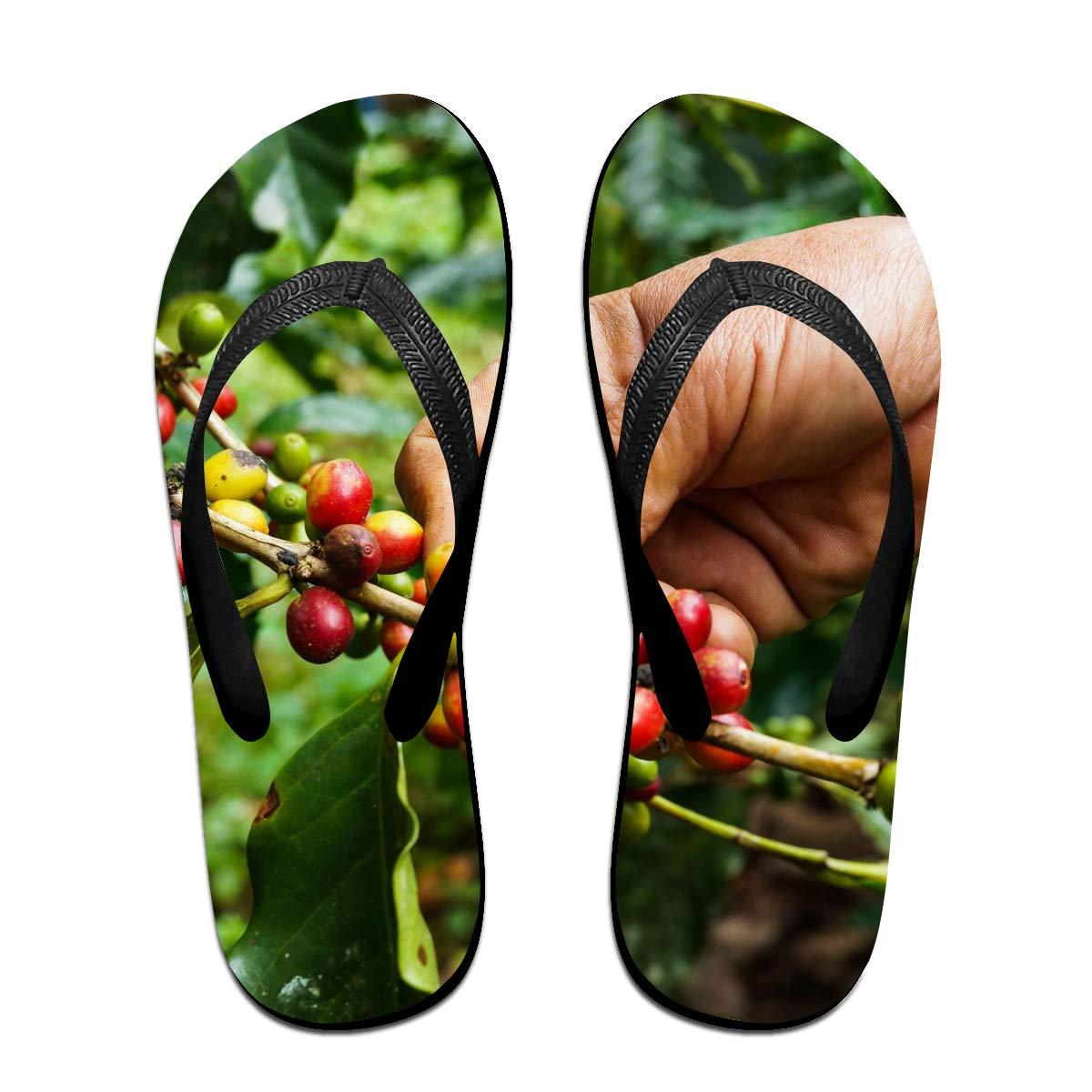 Lojaon Couple Slipper Gatherers Images Print Flip Flops Unisex Chic Sandals Rubber Non-Slip Spa Thong Slippers