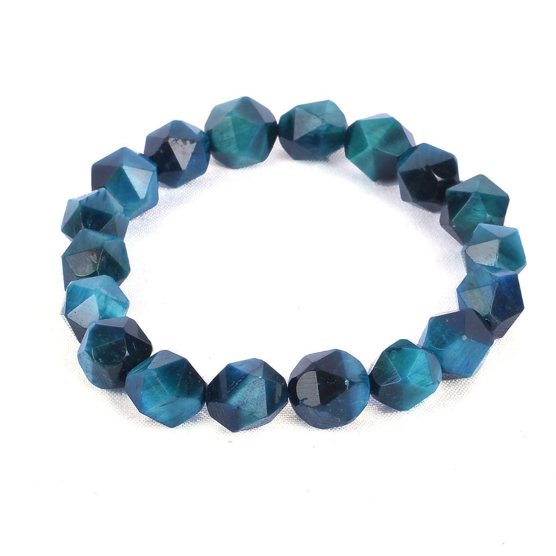 Handmade Light Blue Quartz Chip Bead Nugget Beaded Necklace