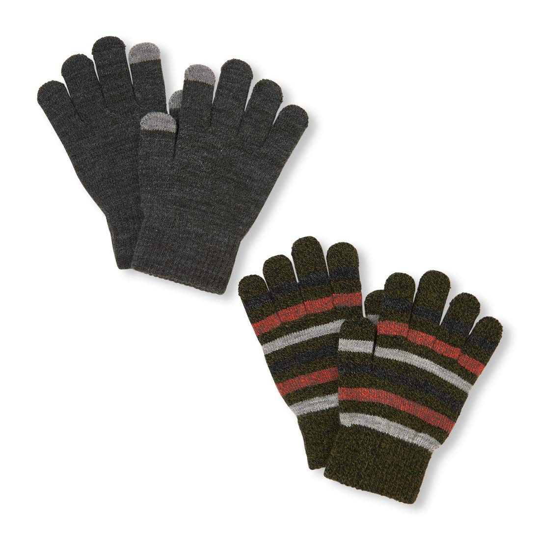 The Children's Place Big Boys' 2 Pack Cold Weather Gloves Black NO_Size The Children's Place 2111623