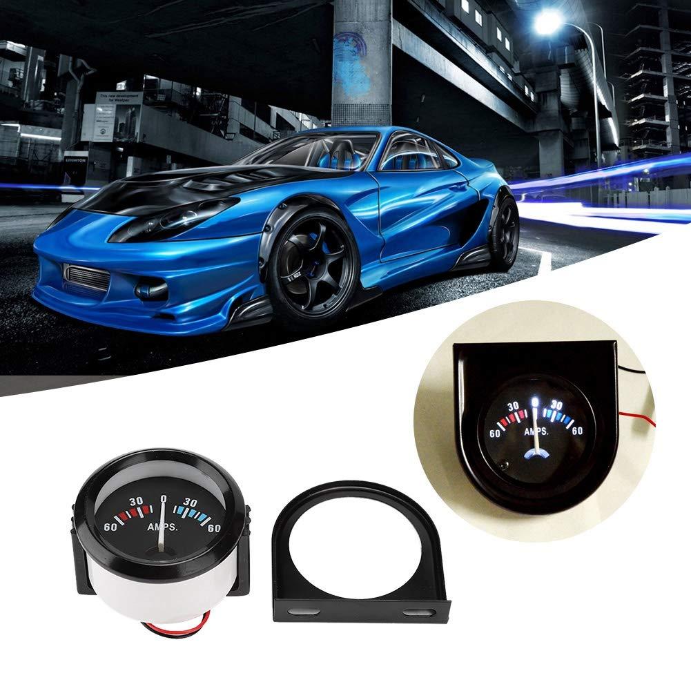 volt/ímetro del amper/ímetro del coche de 2 pulgadas 52 mm 60-0-60A Medidor de volt/ímetro del medidor de AMP para modificaci/ón Volt/ímetro del amper/ímetro del coche