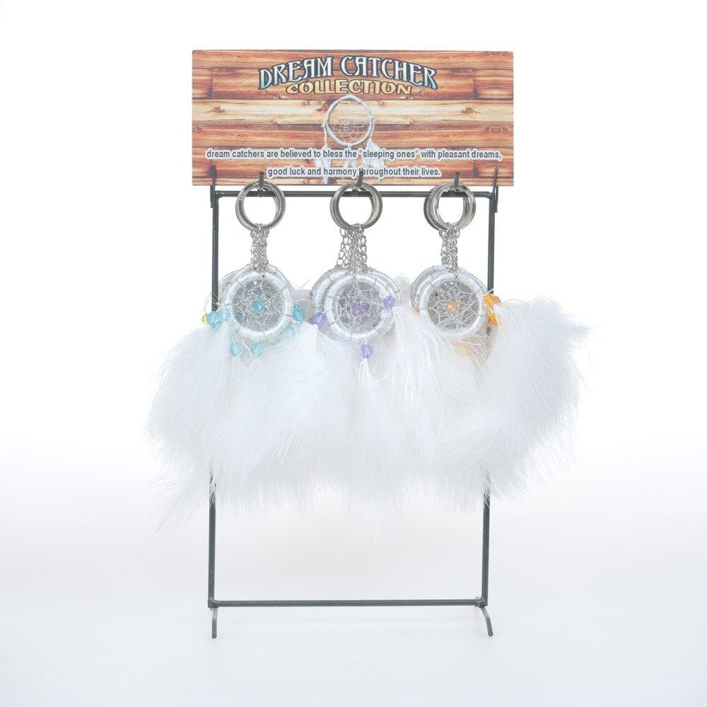 OBI Party Favor Dream Catchers Traditional Style White Dreamcatcher Keychains Metal Key Rings (3 Dozen Dream Catchers (36))