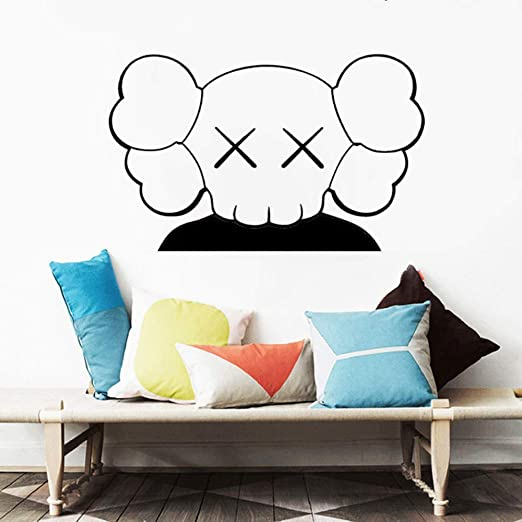 WWYJN Art Wall Stickers Childrens Room Murals Home Decorations Living Room Vinyl Decals Anime Poster Bedroom Decoration Black 57x36cm: Amazon.es: Hogar