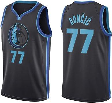Lalagofe Luka Doncic, Camiseta de Baloncesto Dallas Mavericks #77, Negro City Edition, un Nuevo Tejido Bordado, Estilo de Ropa Deportiva (XL), Hombre, One Color, X-Large: Amazon.es: Deportes y aire libre