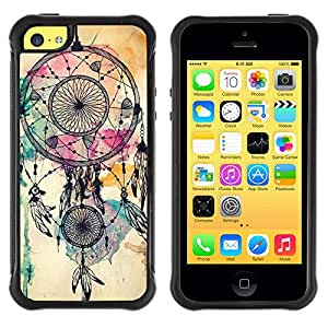 Lady Case@ Dream Catcher Indian Watercolor Native Rugged Hybrid Armor Slim Protection Case Cover Shell For iphone 5C CASE Cover ,iphone 5C case,iphone5C cover ,Cases for iphone 5C