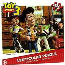 Toy Story 3 48 Piece Lenticular Puzzle - Woody, Buzz, Jessie, Rex, & Bullseye