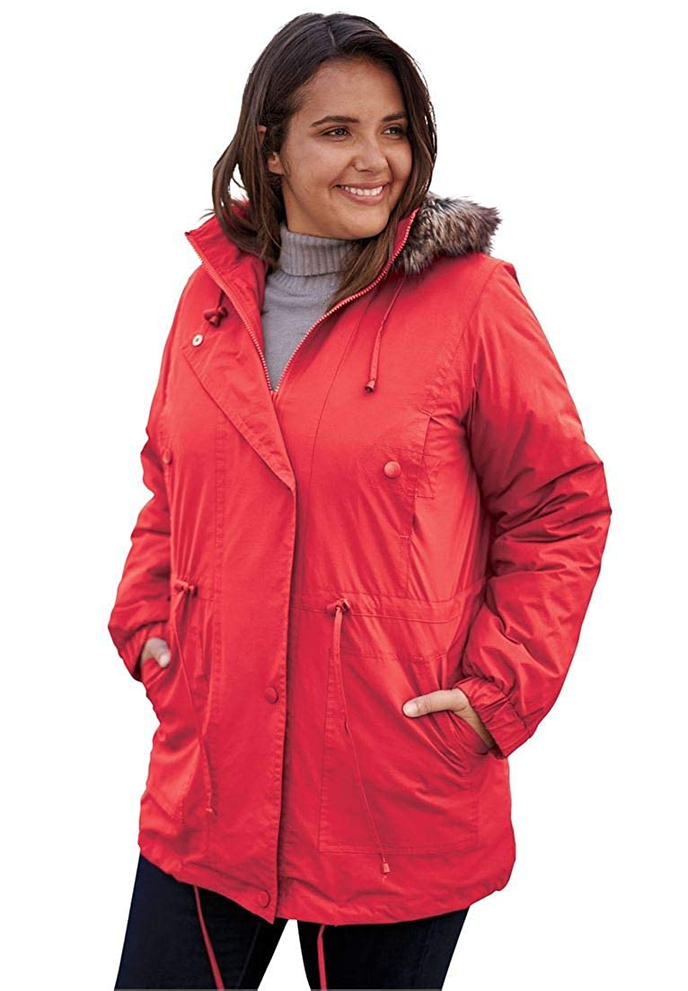 405c67f9a13be Woman Within Plus Size Taslon Anorak Coat  1540908581-122783  -  38.08