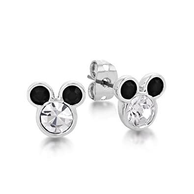 findout sterling silver Cubic Zircons hollow Mickey Mouse earrings .for women girls .(f1696) xXlO13dv4O