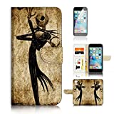 ( For iPhone 6 Plus 5.5' / iPhone 6S Plus 5.5') Flip Wallet Case Cover and Screen Protector Bundle A1369 Nightmare Before Christmas
