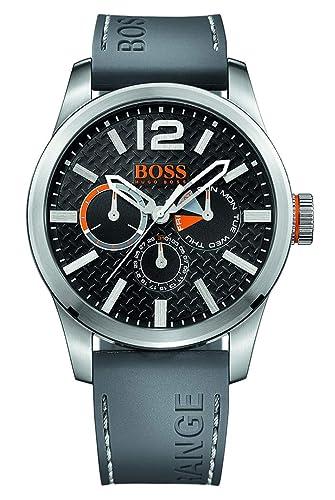 6b7994884bc9 Hugo Boss Orange 1513251 - Reloj análogico de cuarzo con correa de silicona  para hombre