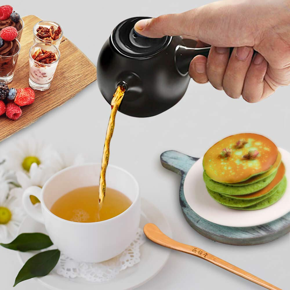 Yan Hou Tang Organic Chinese Black Tea Lapsang Souchong Loose Leaves 250g - English Breakfast Tea Bulk Leaf for Afternoon Tea