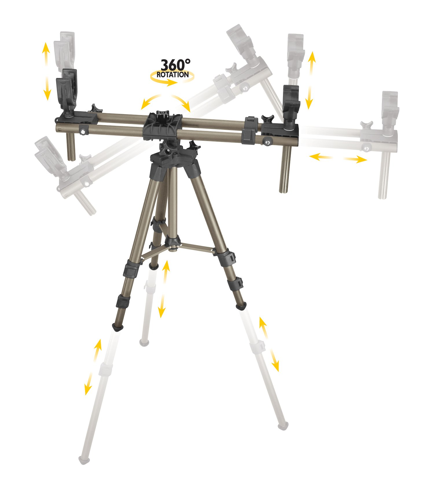 Caldwell DeadShot FieldPod Adjustable Ambidextrous Rifle Shooting Rest for Outdoor Range and Hunting by Caldwell (Image #2)
