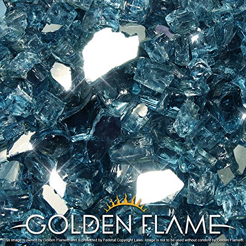 Golden Flame 20-Pound (Fire Glass) 1/2 Pacific Blue Reflective (Glass Fire Blue Pacific)