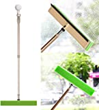 BOOMJOY Window Cleaner Squeegee Combo with Adjustable Pole, Multi-Purpose Window Scrubber Kit for Car Outdoor