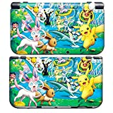 PIKACHU C for New Nintendo 3DS Skin New3DS N3DS Decal Sticker Vinyl Cover + Screen Protectors