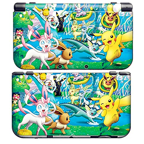PIKACHU C for New Nintendo 3DS XL Skin Vinyl Decal Stickers + Screen Protectors