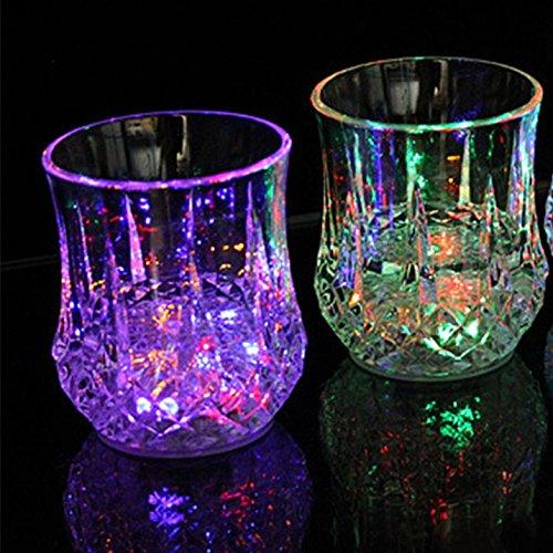 Led Light Up Flashing Wine Glasses - 8